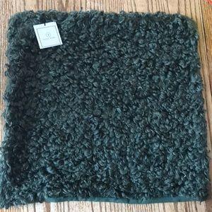 Faux alpaca pillow cover green boho fur